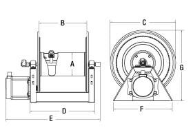 motorized hose reel