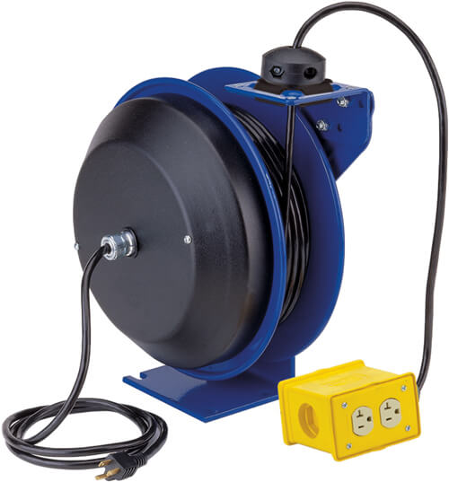 Electric Cable Reels : Retractable cord reel electric reels