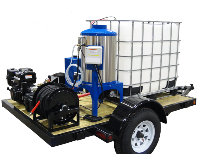 P4300DHEST Hot Water Diesel Driven Pressure Washer