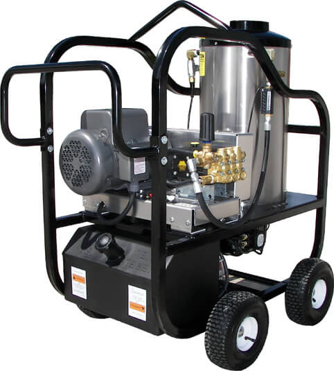 electric motor diesel burner hot water power washers