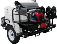 Hot Water Diesel Trailer Pressure Washer