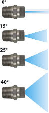 "1/4"" Stainless Steel MEG Nozzles"