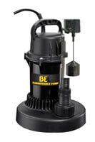 Submersible Pump with Vertical Float