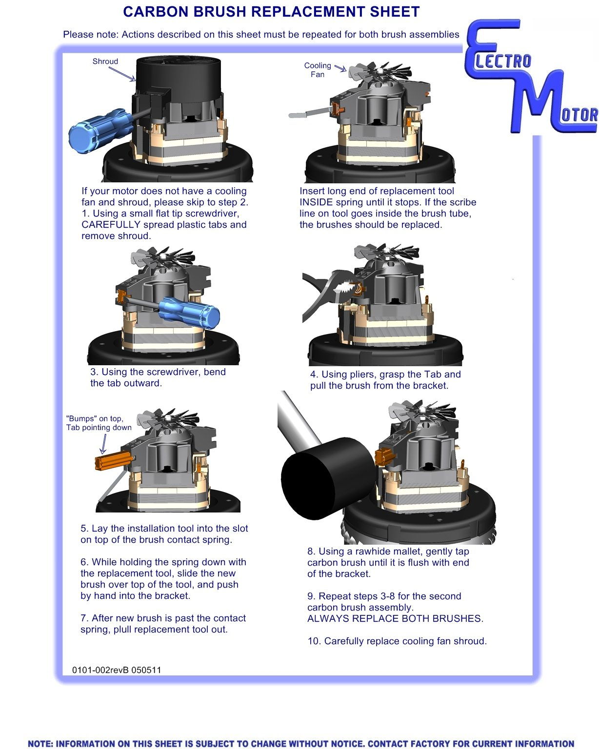 Change Motor Brushes