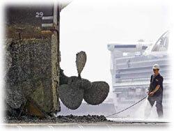 water blasting barnacles