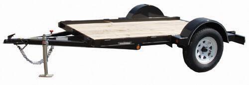 Single Axle Tandem : Single axle trailer tandem utility trailers
