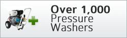 Over 1,000 pressure washers