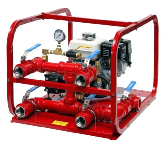 Fire hose tester for Rice pump and motor