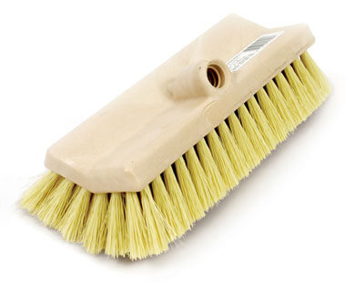 how to clean cabots deck brush