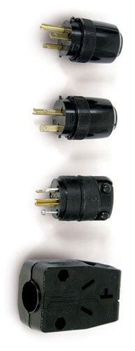 Black Nylon Plug