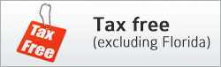 Tax free (excludes Florida)